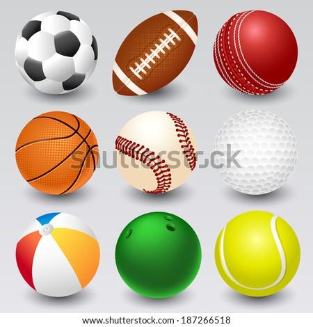 Ball icons - stock vector
