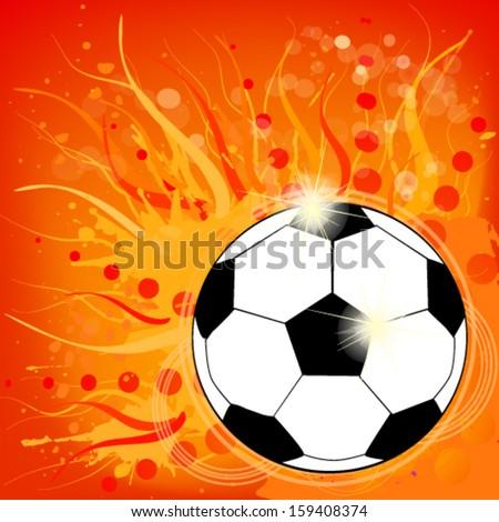 ball of fire - stock vector