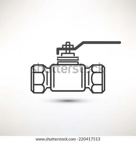 Ball Valve Vector Symbol Stock Photo Photo Vector Illustration