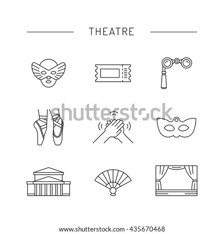 Ballerina dancer ballet. Dance positions for teaching ballet. Elements of theatre and ballet. - stock vector