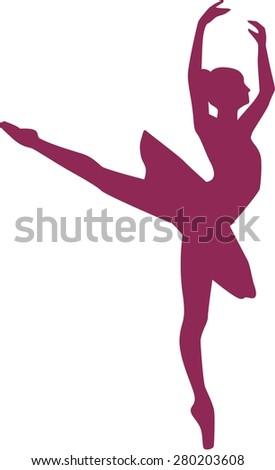 Ballerina Dancing Tutu - stock vector