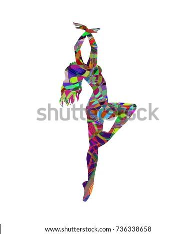 Bhangra Dance Concept Men Woman National Stock Vector ...