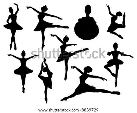 ballerina vector silhouettes - stock vector