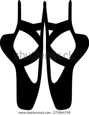Ballet Ballerina Shoes - stock vector