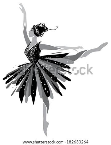 Ballet Dancer, ballerina  - stock vector