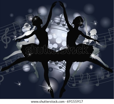 Ballet, musical background. Vector illustration.