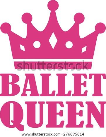Ballet Queen - stock vector