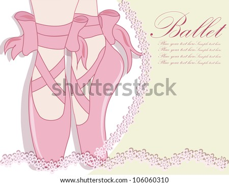 Ballet shoes, Vector illustration - stock vector