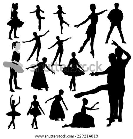 Ballet Silhouettes - stock vector