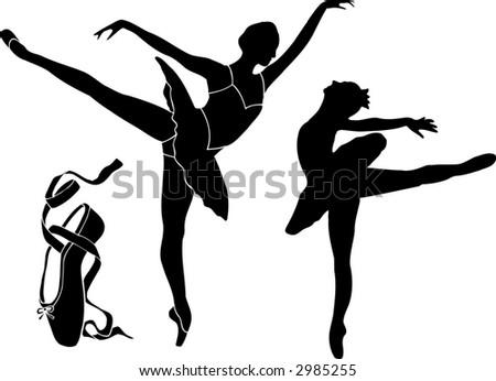 Ballet Vector Silhouettes - stock vector