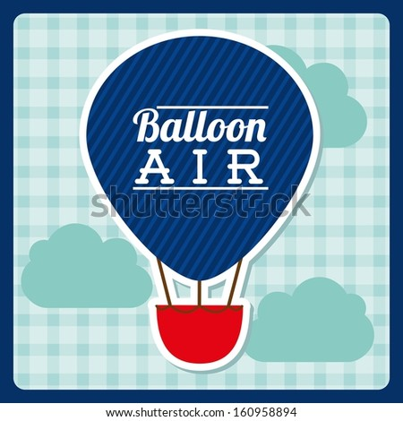 balloon air  design over background vector illustration - stock vector
