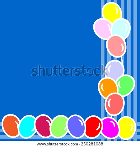 Balloon background with space for text- vector illustration  - stock vector