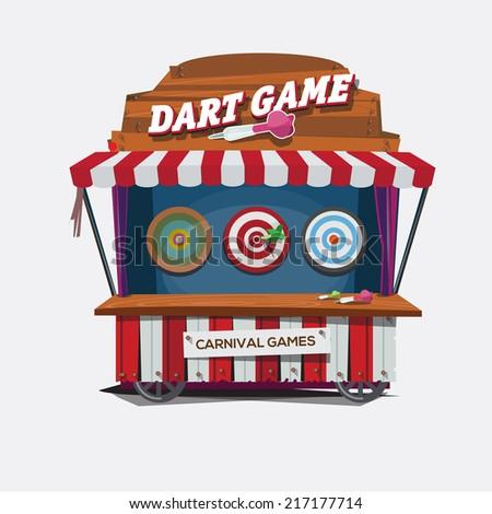 balloon dart game. carnival cart concept - vector illustration - stock vector