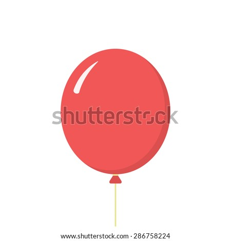 Balloon icon, modern minimal flat design style, vector illustration