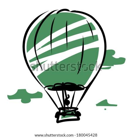 balloon in the sky - stock vector
