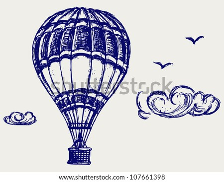 Balloon sketch - stock vector