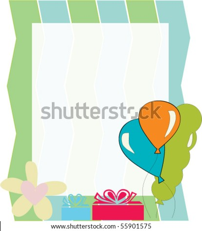 balloon template - stock vector
