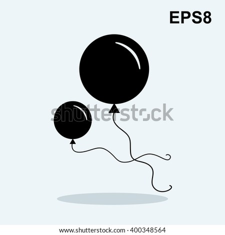 Balloon vector icon isolated on white