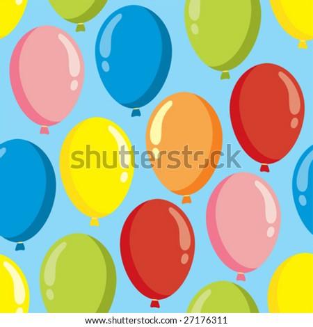 balloon vector seamless pattern - stock vector