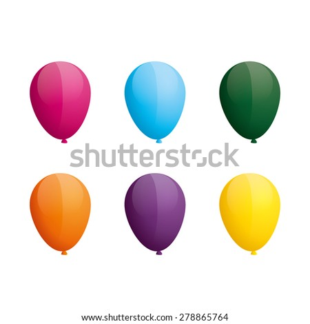 balloon vector set - stock vector