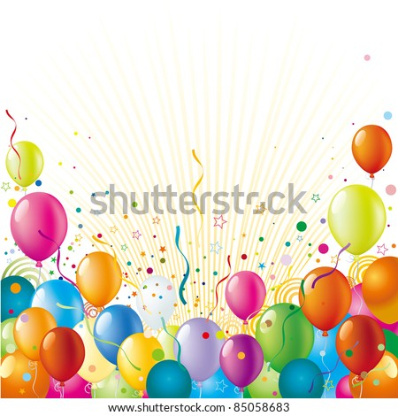 balloon with holiday celebration background