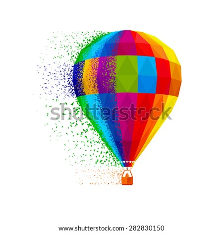 Ballooning. vector eps8 - stock vector