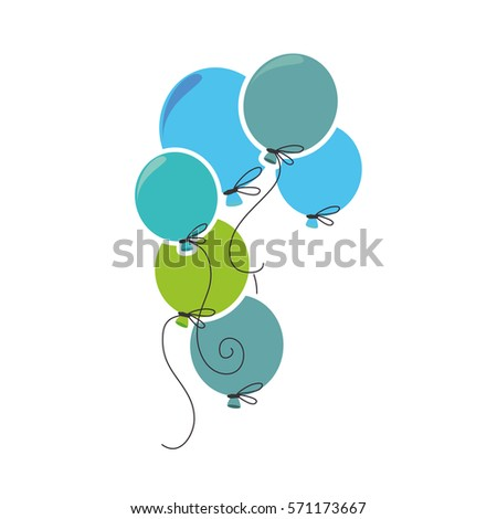 balloons air party card