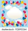 Balloons background with space for text - stock vector