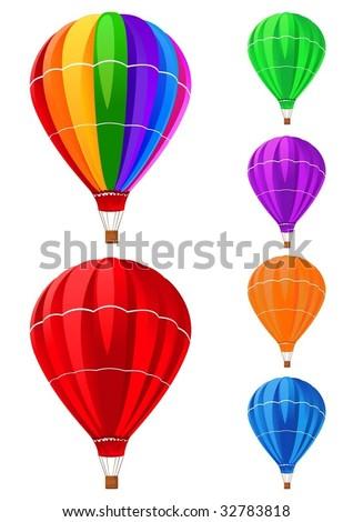 balloons collection - stock vector
