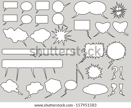 balloons collection. Vector Illustration