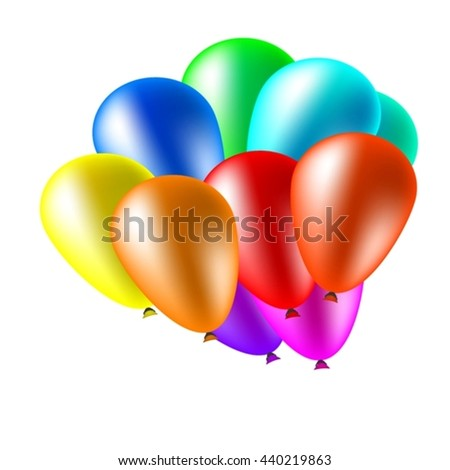 Balloons for holiday decorations. Birthday, wedding, anniversary. It can also be used for printing of gift cards for congratulations.