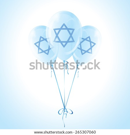 Balloons for the Israel Independence Day. EPS10, transparency - stock vector