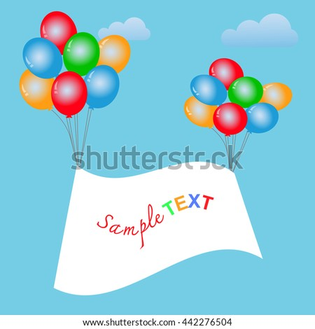 Balloons frame composition with space for your text. Vector illustration. EPS10
