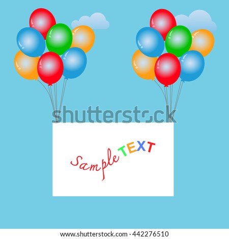 Balloons frame composition with space for your text. Vector illustration. EPS10 - stock vector