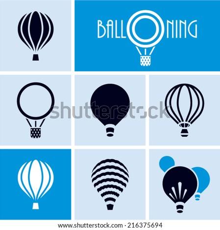Balloons. Hot air balloon. Ballooning. - stock vector