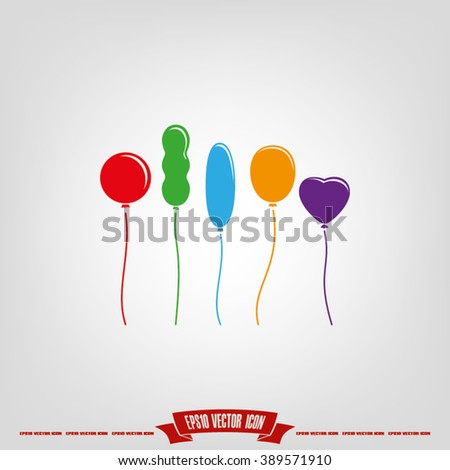 Balloons icon vector illustration eps10.