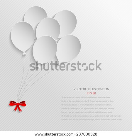 Balloons on white Background - stock vector