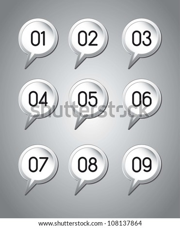 balloons text with numbers over gray background. vector illustration - stock vector