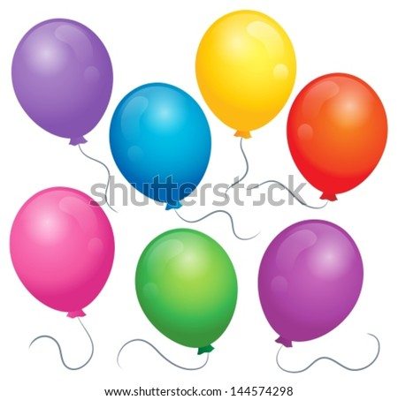 Balloons theme image 1 - eps10 vector illustration. - stock vector