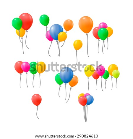 Balloons vector collection. Eps10. - stock vector