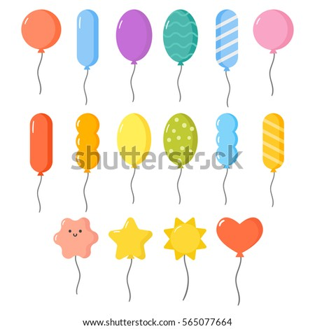 Balloons vector set.