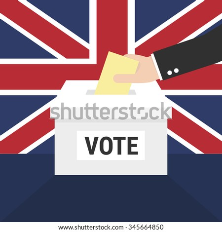 Ballot Box for a UK General Election - stock vector