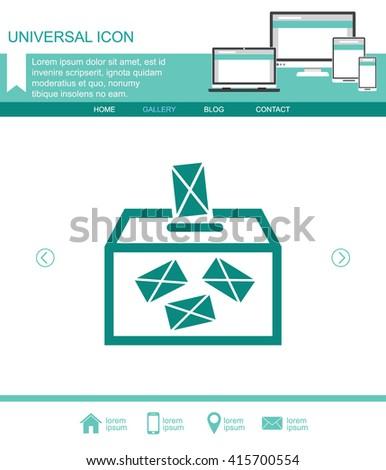 Ballot box Icon. Ballot box Icon Vector. Ballot box Icon Sign. Ballot box Icon Picture. Ballot box Icon Image. Ballot box Icon Illustration. Ballot box Icon JPEG. Ballot box Icon EPS10. - stock vector