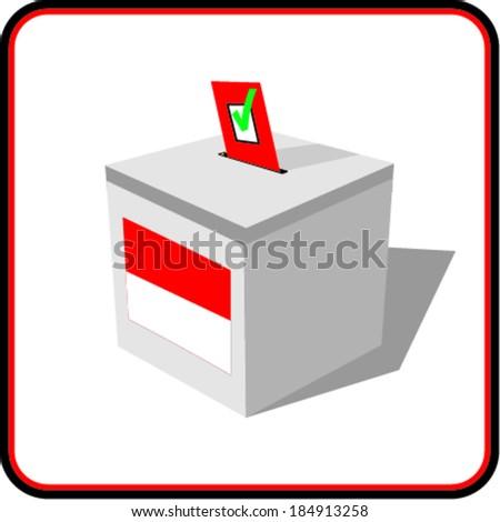 Ballot box . Illustration on white background  - stock vector