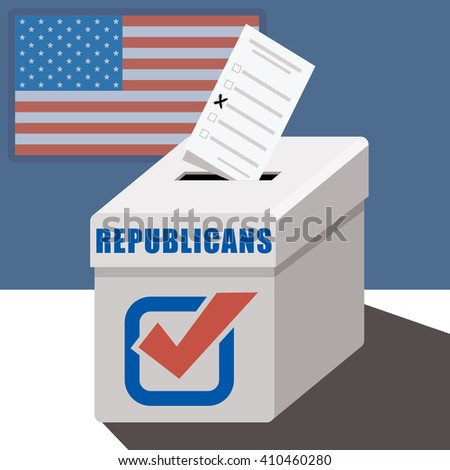 ballot box republicans  - stock vector