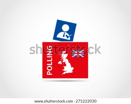 Ballot Box UK Britain Prime Minister Candidate Voting - stock vector