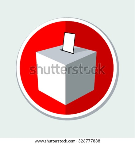 Ballot box . Vector Illustration - stock vector