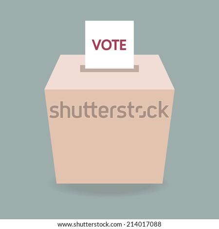 ballot box vote - stock vector