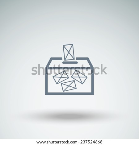ballot box vote,vector icon - stock vector