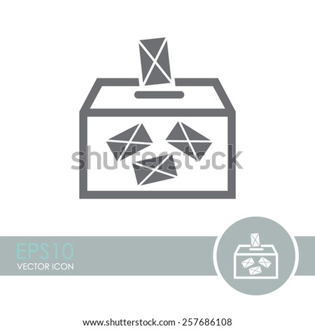 Ballot box vote,vector icon. - stock vector
